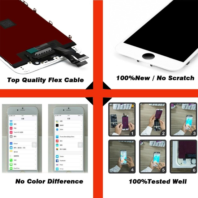 AAA+++ For iPhone 6 6S 7 LCD Display Pantalla For iPhone 5 5S 5C Touch Screen Assembly Display Replacement 100%Tested Tianma LCD