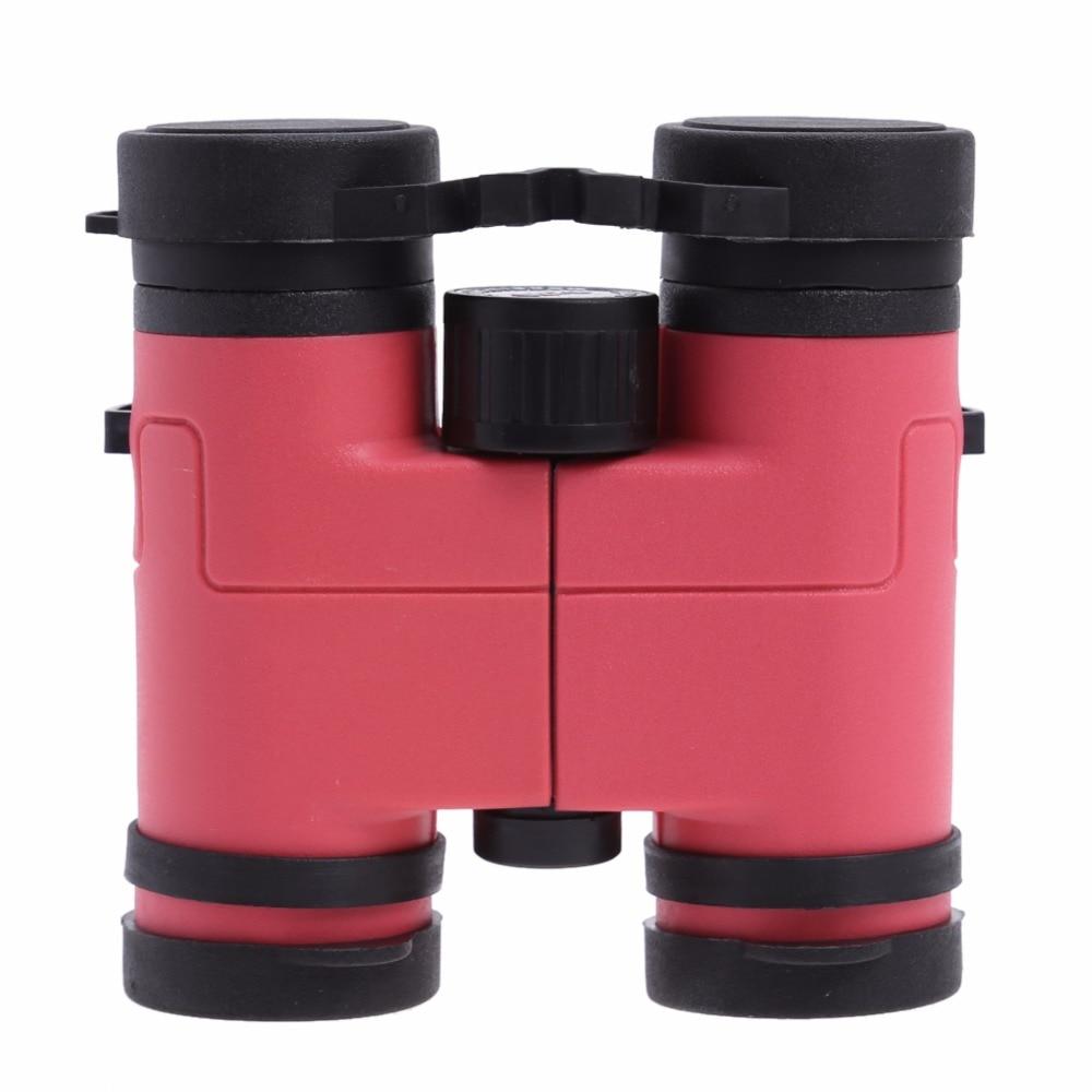 New Pink 8x30 Children Binoculars Colored Toy Birthday Presents Students Telescope Kids Plastic Glass Lens Telescope SCOPE binoculars lens scope scope scope lens -