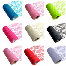 """Pick Color Lace Tulle Roll Spool 6""""x10YD Netting Fabric Tutu Skirt Chair Sash Bow Table Runner Lace Fabric Wedding Decoration"""