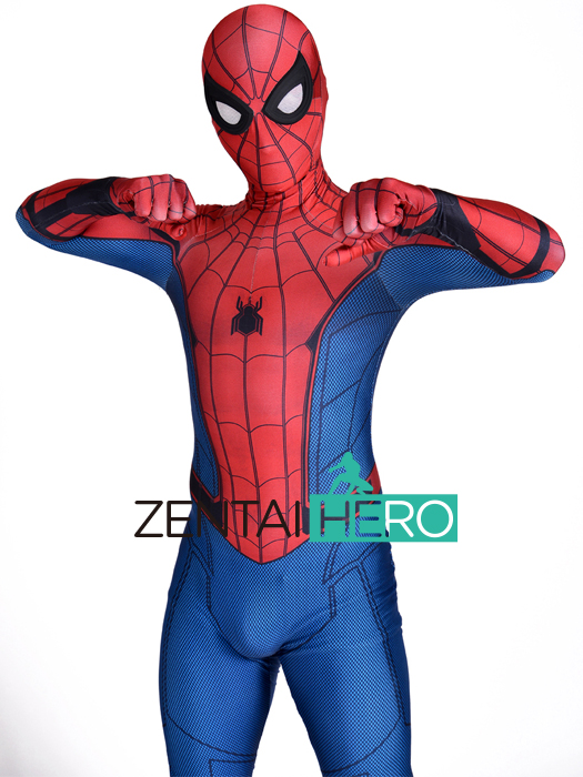 Free Shipping DHL 3D Print Newest Homecoming Spider-Man Costume Cosplay Cosplay Lycra Spider-Man Superhero Costume For Halloween