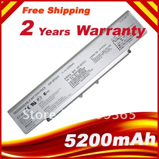 Silver Laptop Battery For SONY VAIO VGP BPS9 BPS10 BPL9 BPL10 VGP-BPL9 VGP-BPS9A/B VGP-BPS9/S VGP-BPS9A/S VGP-BPS9/B