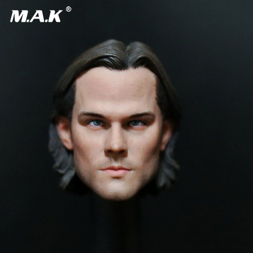 In Stock 1/6 Scale Male Head Sculpt Supernatural Sam Winchester Jared Padale Figure Accessory Model for 12'' Action Figure Body