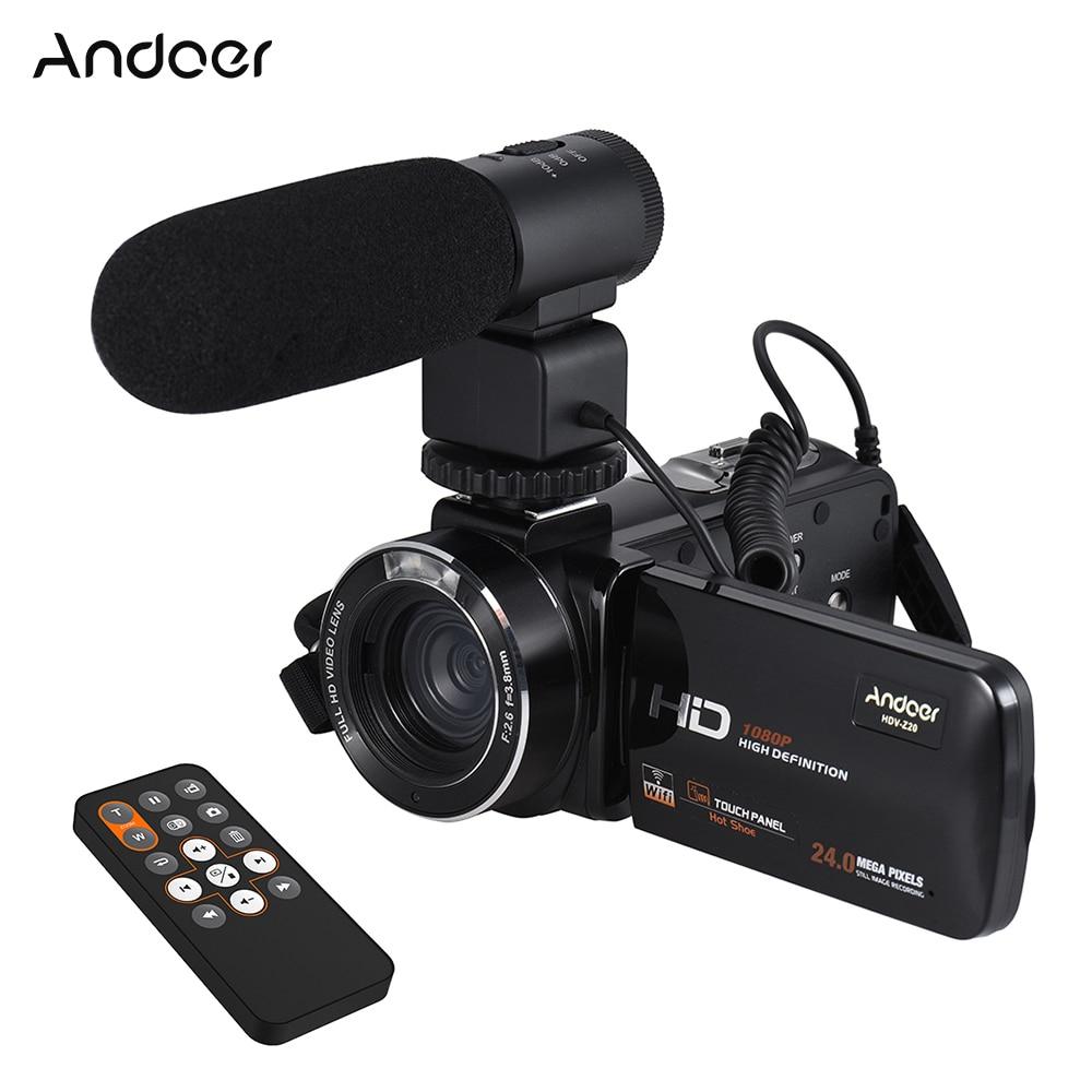 andoer hdv z20 1080p full hd wifi digital video camera. Black Bedroom Furniture Sets. Home Design Ideas
