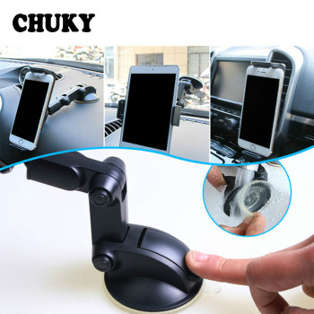 Universal Car Windshield Mount Stand cell phone Bracket GPS Holder For Peugeot 307 407 Citroen C4 Honda Civic Accord CRV Lada image