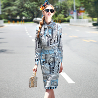 2017 Summer Fall Runway Set Women S Two Piece Clothes Set High Quality Long Sleeve Print