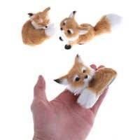 Neue Simulation braun fox spielzeug pelze hocken fuchs modell zu hause dekoration Tiere Welt mit Statische Action-figuren Spielzeug Geschenk für kid