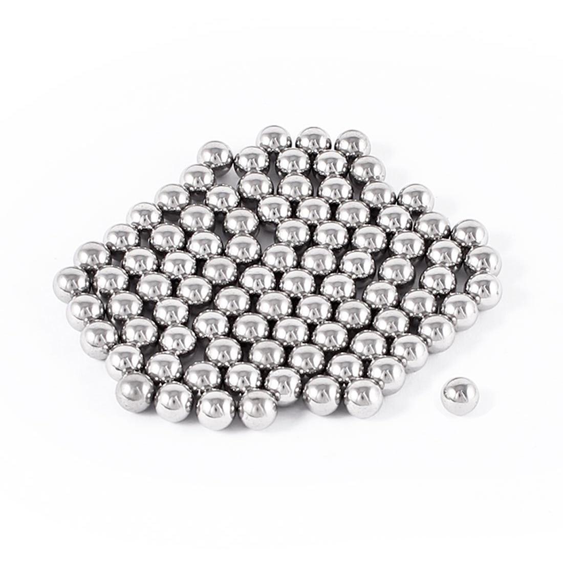 THGS 100 Pcs Bike Bicycle Wheel Bearing Steel Balls 7mm Diameter imc hot 100 pcs bicycle replacement silver tone steel bearing ball 6mm diameter