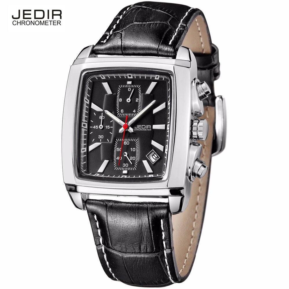 Betere Jedir merk quartz horloge mannen waterdichte analoge bruin lederen MI-06