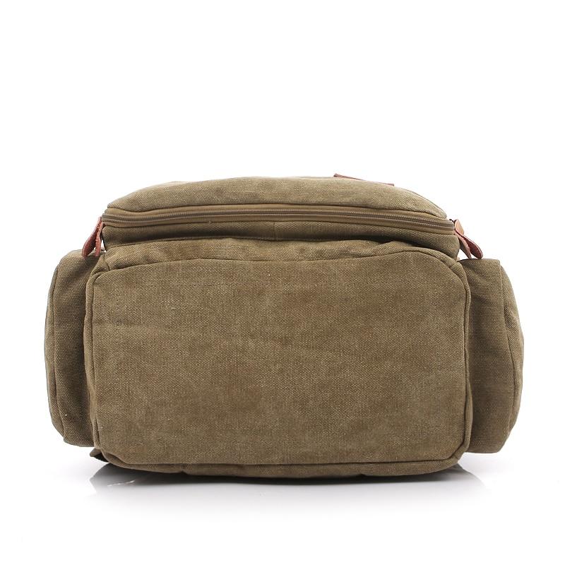 Large Capacity Canvas Travel Backpack Men Vintage Male Laptop Backpack Bag 14 inch Casual Women Backpack School Rucksack 1123 in Backpacks from Luggage Bags
