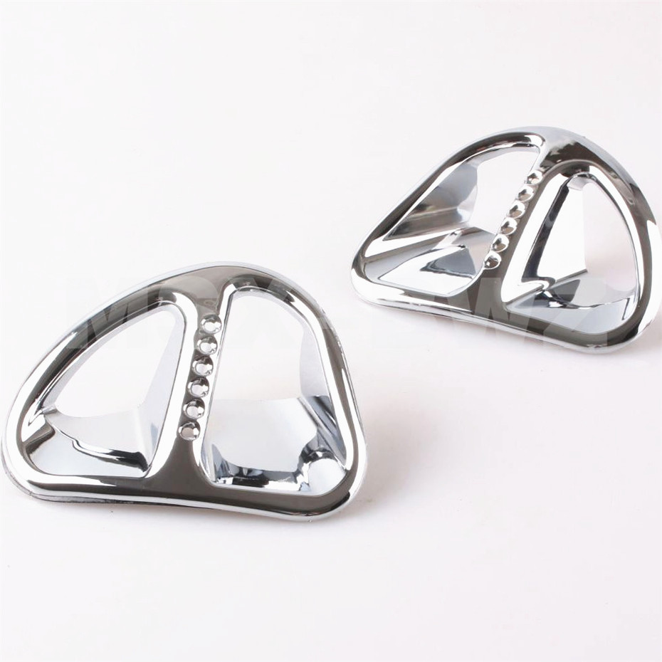 ФОТО 2PC Goldwing Chrome Fairing Martini Air Intake Grills For Honda GL1800 2001 -2011 2010 2011 Motorcycle Accessories Stylish