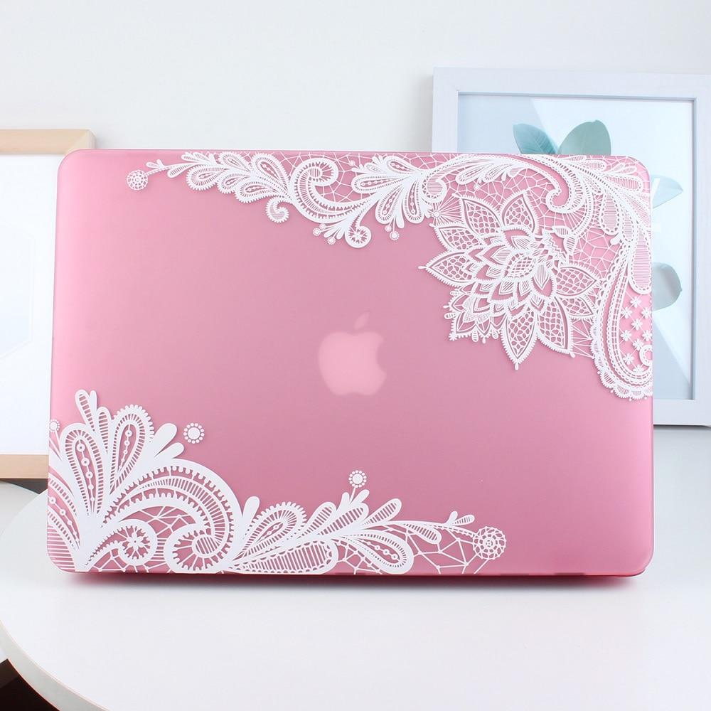 Nowa moda dla dziewczyn Matte Lace Hard Case Cover do Macbook Air 13 - Akcesoria do laptopów - Zdjęcie 5