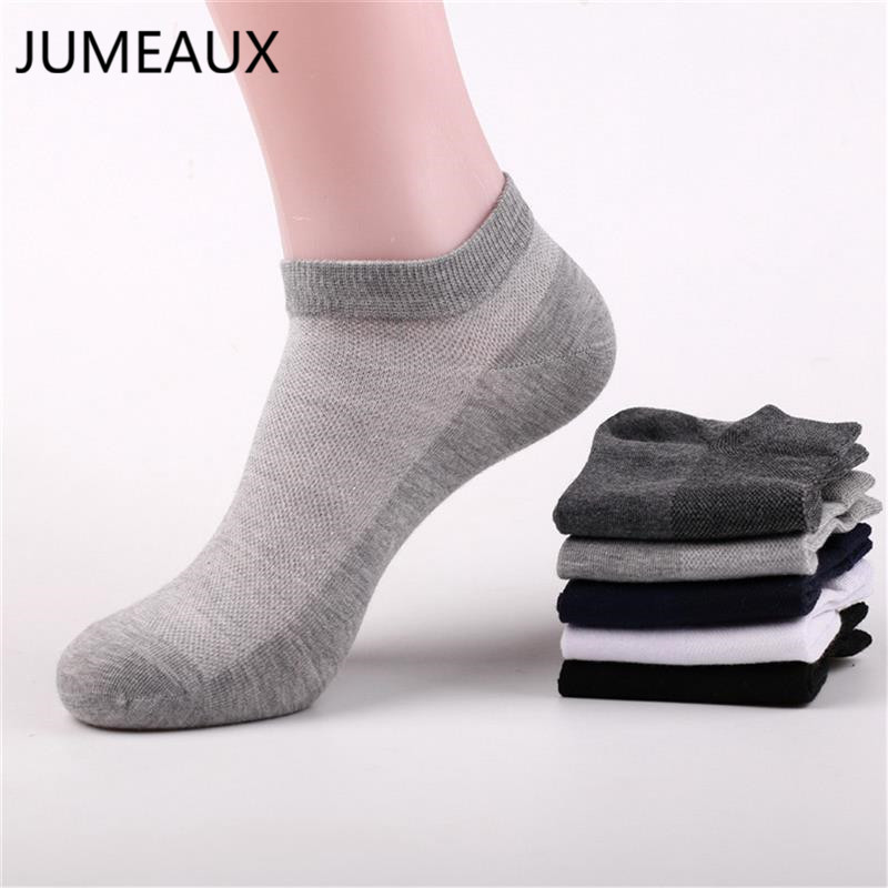JUMEAUX 3 Pairs/Lot 5 Color Men Socks Male Summer Casual Short Breathable Cotton Ankle Socks Men Brand Dress Business Socks