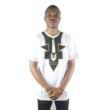 Africa Ethnic Embroidery Men`s Dashiki Tops Summer African Folk Henley Shirts