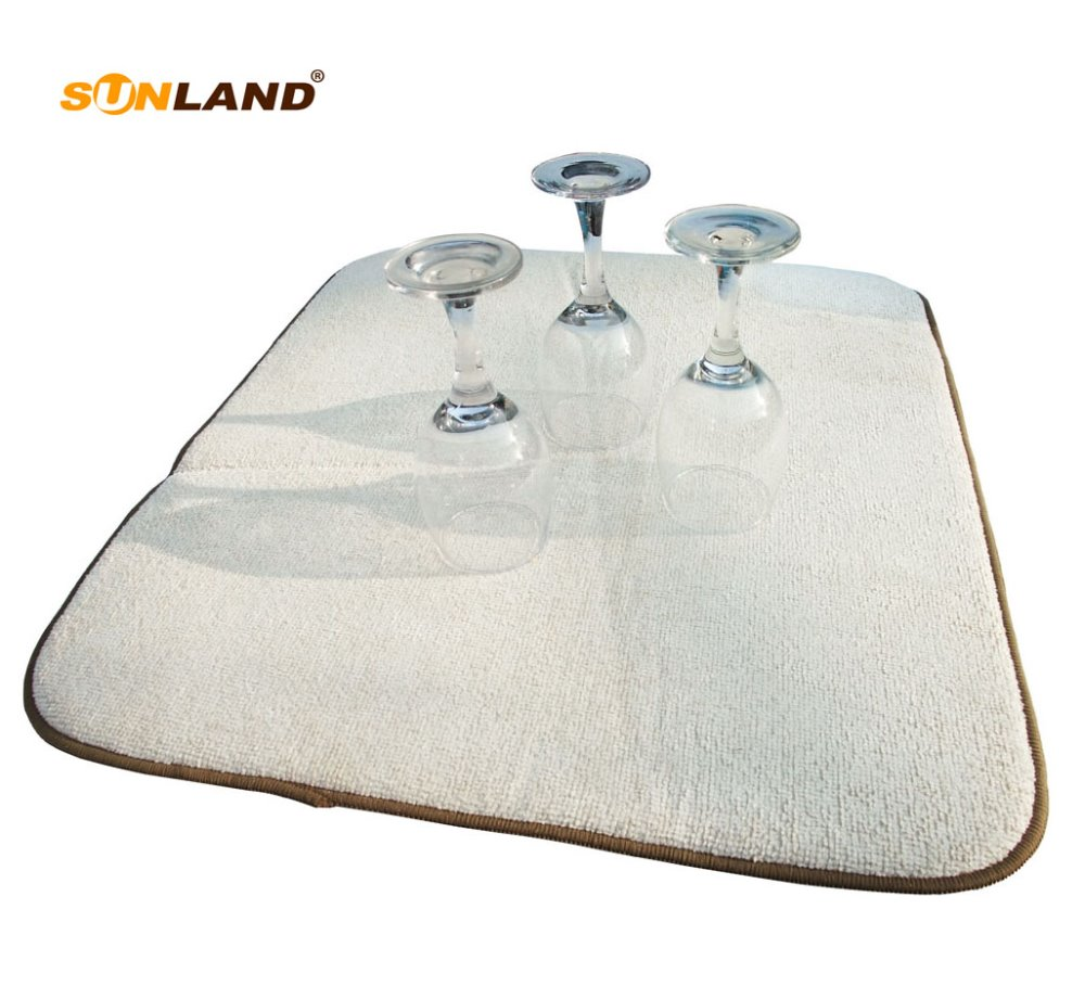 Microfiber Absorbent Machine Washable and Fast Drying Pad Dish Drainer Mat For Counter 2 Packs SOFTOWN Kitchen Dish Drying Mat