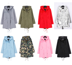 Image 2 - OFTBUY 2020 Real Fur Coat Winter Jacket Women Long Parka Natural fox Fur Collar Hood faux Fur Liner loose coat ins fashion new