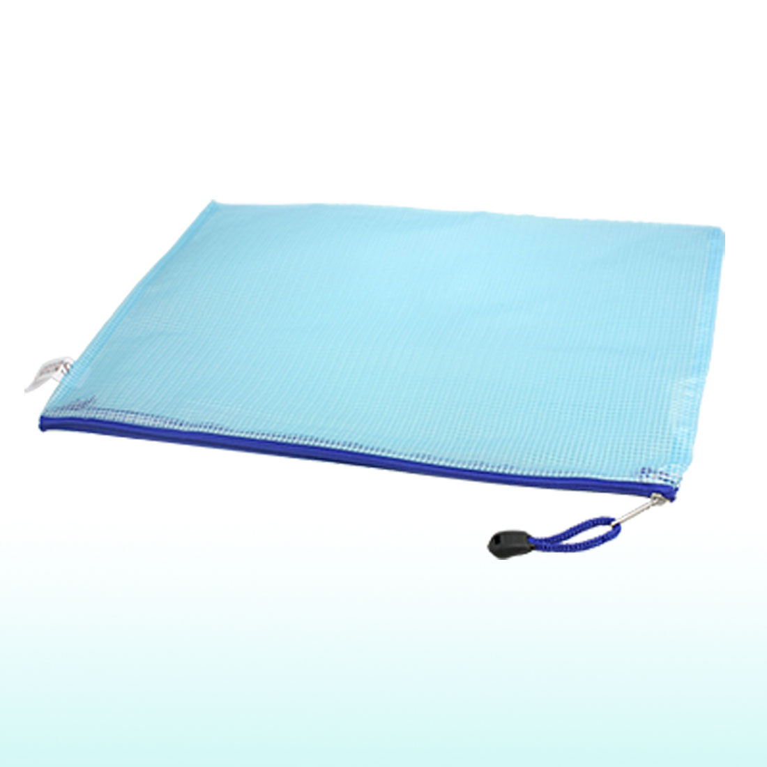 12 Pcs Blue Plastic Pen File A4 Document Bags Zip up Folders Pockets