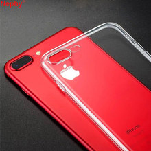 Limpar Silicon Case para iphone 4 6 6 s S 4S 5 8 5S SE 5SE 5C iphone 7 7 S Plus 6 Plus 6 SPlus 8 7 Plus Plus Cell Phone 360 Capa bumper(China)