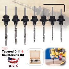22Pcs Profession Woodworking Tool Tapered Drill & Countersink Bit Screw Set with Hex Key Wood Pilot Hole Tools
