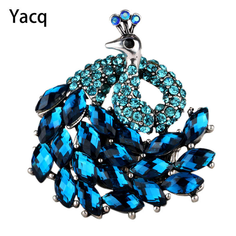 Peacock stretch ring for women antique gold & silver color W crystal jewelry gifts 9 wholesale dropshipping