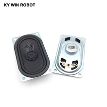 Купить с кэшбэком 2PCS/Lot LCD Monitor/TV Speaker Horn 2W 8R 4070 Loud speaker 8 ohms 2 Watt 8R 2W 40*70MM thickness 20MM