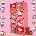8 cubes Children's Cartoon Wardrobe Closet Storage Cabinet Clothing Armoire Kids Closet Organizer storage organizers