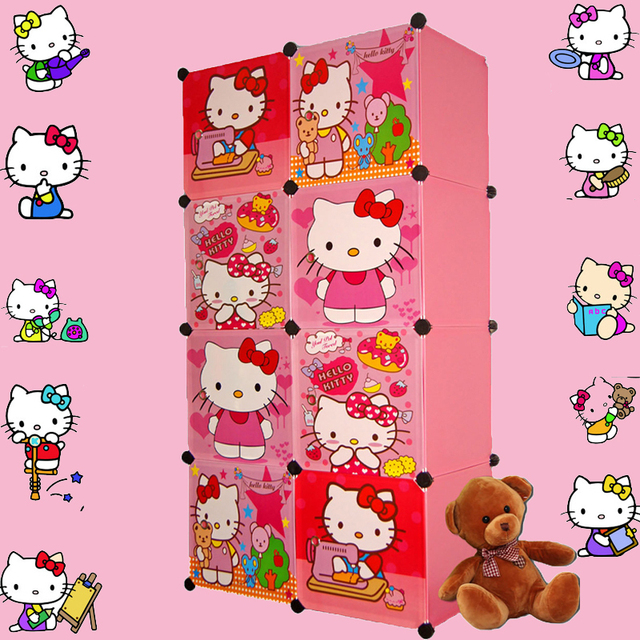 Gentil 8 Cubes Childrenu0027s Cartoon Wardrobe Closet Storage Cabinet Clothing Armoire  Kids Closet Organizer Storage Organizers