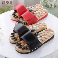 B05 Natural pebble foot foot massage slippers point massage shoes for men and women couple home skid shoe