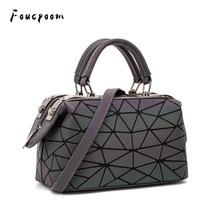 Fashion Geometric Handbag Bag Women Luminous Boston Bag Female Messenger Bags Ladies Plain Shoulder Bags Tote Clutch Sac bolso