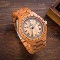 Mais novo Relógio de Quartzo Marca Analógico Relógio De Madeira De Luxo para Homens Relógio de Pulso de Madeira de Cerejeira para Moda masculina Relógios Orologi Relogio