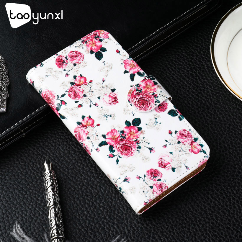 TAOYUNXI PU Leather Case For Alcatel One Touch A7 5090Y Cases Phone Cover For Alcatel A7 Flip Wallet With Card Holster Shell
