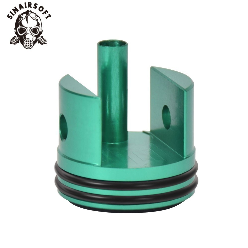 SINAIRSOFT CNC Anodized Green Ultra Silent M14 Cylinder Head Fit Ver.7 Gearbox For Paintball Hunting Accessories