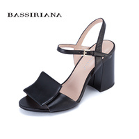 High Heels Sandals For Woman Summer 2017 Genuine Leather Shoes Woman Red Black White 35 40
