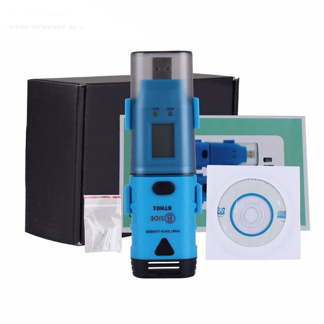 USB & LCD BTH01 Waterproof Two Channels Temperature Moisture Humidity Dew Point Data Logger Measurement & Analysis Instruments