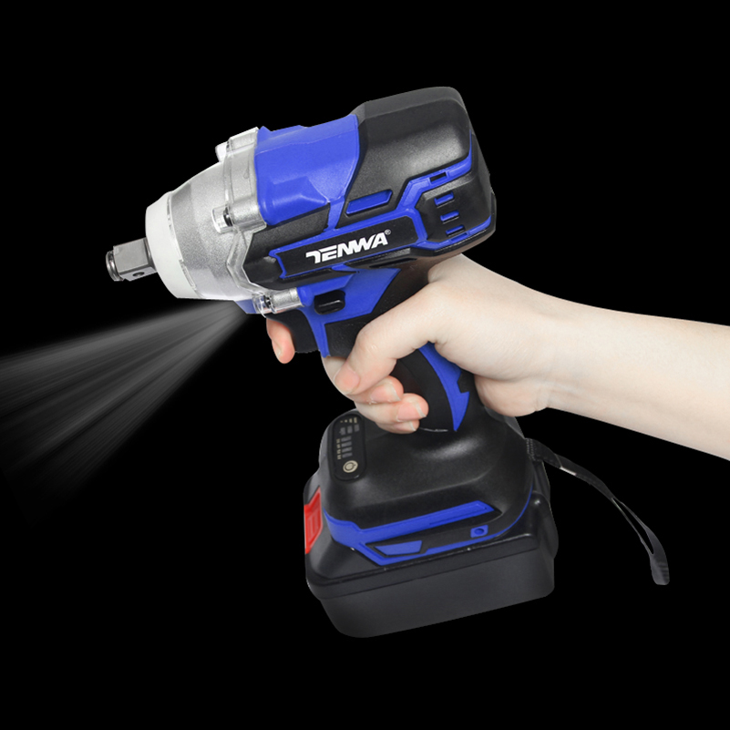 Image 3 - TENWA  21V Impact Wrench Brushless Cordless Electric Wrench Power Tool 320N.m Torque Rechargeable Extra Battery Avaliable-in Electric Wrenches from Tools on
