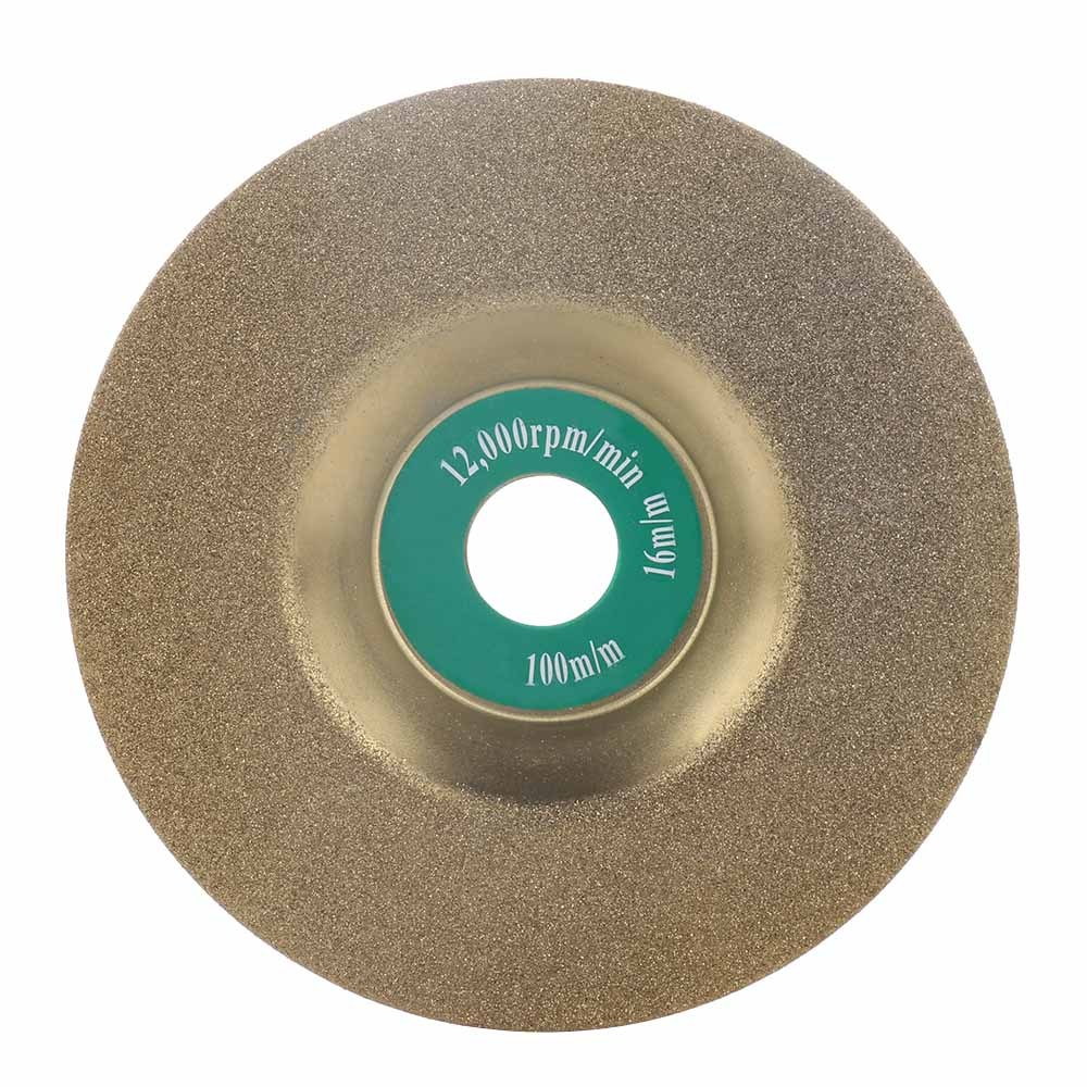 16mm Diamond Grinding Wheel Cup Glass Emery Milling Cutter Circle Grinder Stone Sharpener Angle Cutting Wheel Rotary Tool