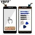 5 ''de la alta calidad del teléfono móvil pantalla táctil del sensor del panel táctil para lenovo a5000 pantalla táctil digitalizador frontal del objetivo de cristal adhesivo