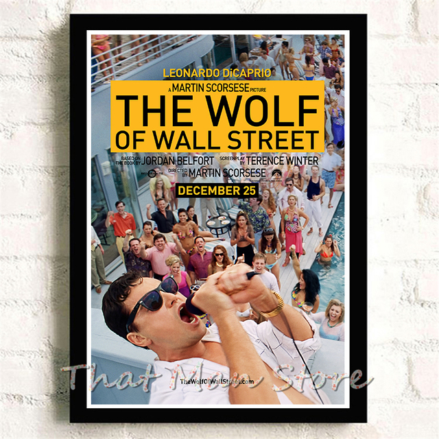 16932 the wolf of street TV LAMINATED POSTER US