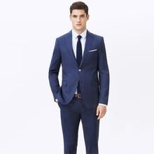 Personalizzato Made to Measure abiti per gli uomini, su misura classico tute blu, SU MISURA da sposa smoking (Giacca + Pantaloni + Tie + P Piazza) 13102101
