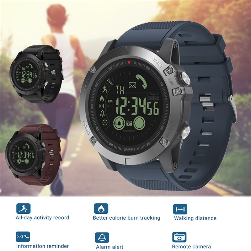 Zeblaze Bluetooth 4.0 Smart Watch Bluetooth Phone Alarm IP67 Dust-Waterproof Remote Camera 33-month Standby For IOS / Android