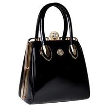 Luxus-handtaschenfrauen-designer Marke Umhängetaschen Casual Tote Damen Handtasche lackleder abendtaschen Handtasche Weibliche 2018