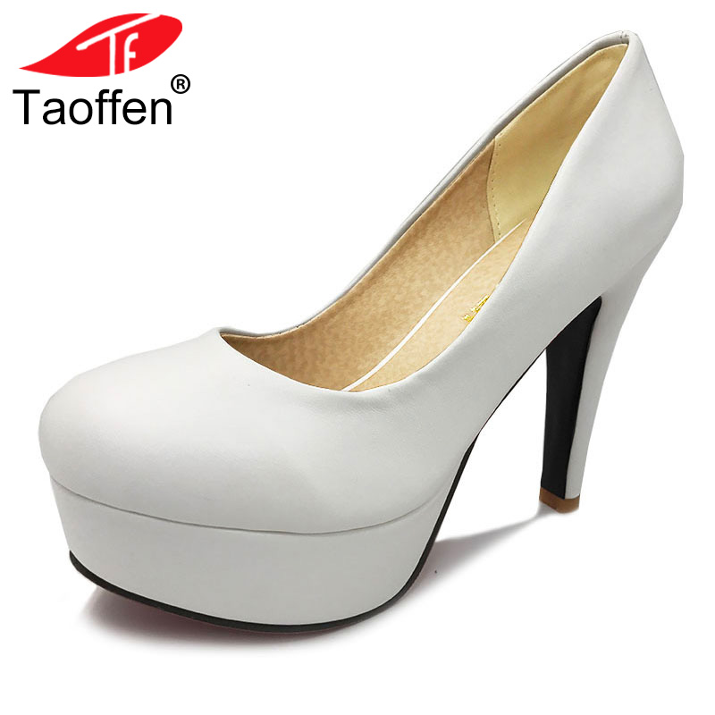 TAOFFEN free shipping high heel shoes women sexy dress footwear fashion lady female pumps P13066 hot sale EUR size 32-44 free shipping high heel wedge shoes women sexy dress footwear fashion pumps p10767 eur size 34 43