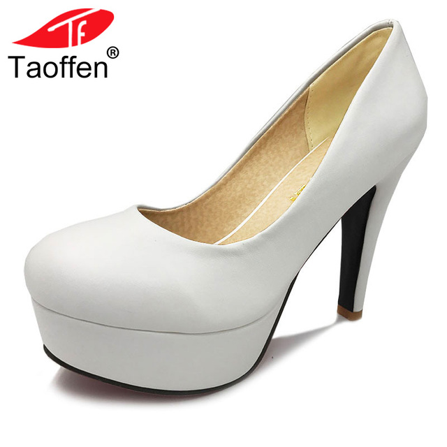 c11f8b912696 TAOFFEN free shipping high heel shoes women sexy dress footwear fashion lady  female pumps P13066 hot sale EUR size 32-44