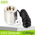 Colhedor Detacheur Força Magnética 12000gs EAS Mini Sistema de Segurança Tag Remover Cor Prateada