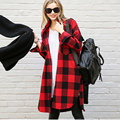 Women Red Plaid Shirt 2016Cotton Women Clothing Long Sleeve Blouse Cheap Clothes China Winter Autumn Blusa Plus Size Tops Blusas