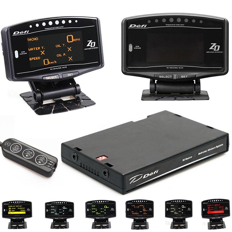 Kit complet de sport 10 en 1 BF CR C2 EXT TEMP DEFI Advance ZD Link mètre numérique Auto jauge numérique tachymètre tr/min voiture HUD