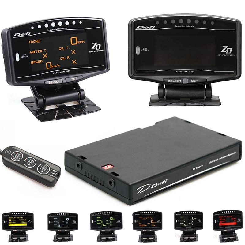 Kit completo Pacote de Esportes 10 em 1 BF CR C2 ZD Antecedência DEFI Ligação Medidor EXT TEMP Medidor Digital Automática RPM tacômetro Digital DO CARRO HUD
