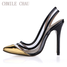 2017 Summer Sexy Party Shoes Women Pointed Toe Stiletto Super High Heels Sling back Ladies Pumps Chaussure Femme Talon 0610-19a