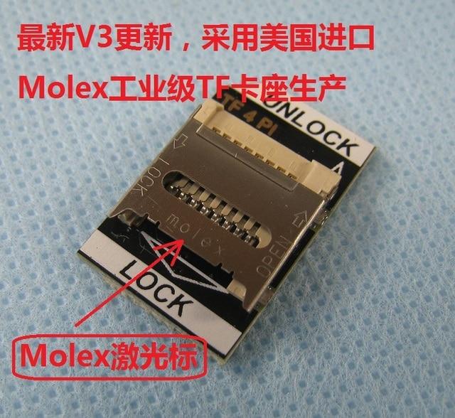 US $4 2 |V3 models Raspberry turn send Raspberry Pi TF SD card adapter  plate U S  Molex deck gold في V3 models Raspberry turn send Raspberry Pi TF