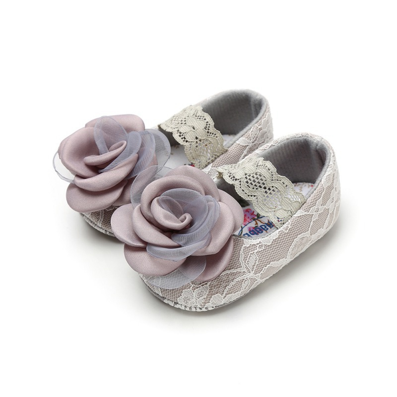 Toddler Shoes Fashion Infant Kids Baby Girls Shoes Elegant Lace Flower Princess Shoes Materials For 0-18M