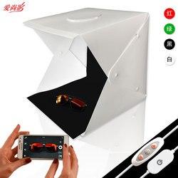 Tabletop Shooting Adjustable Dual-lamp 40*40cm Photo Studio LED Light Flexible Photo Platform Mini Photo Soft Box Small Light